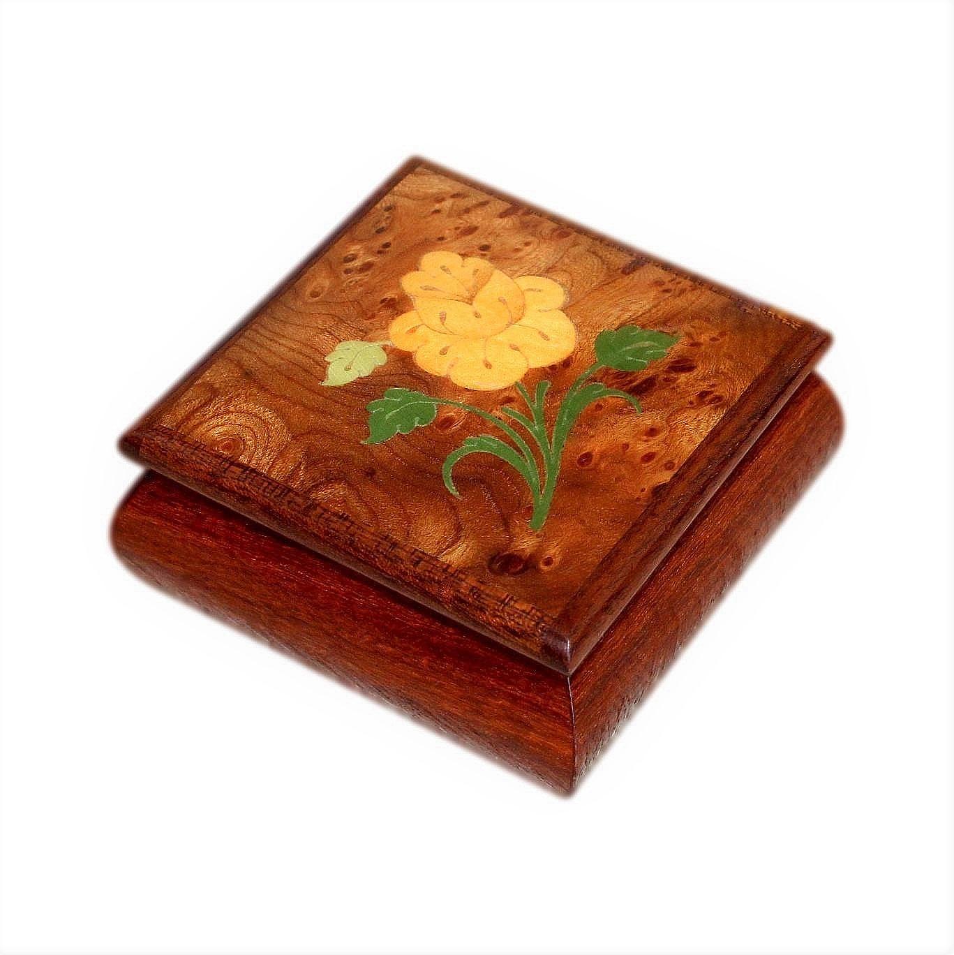 Small Italian Inlaid Vintage Jewellery Box From Sorrento