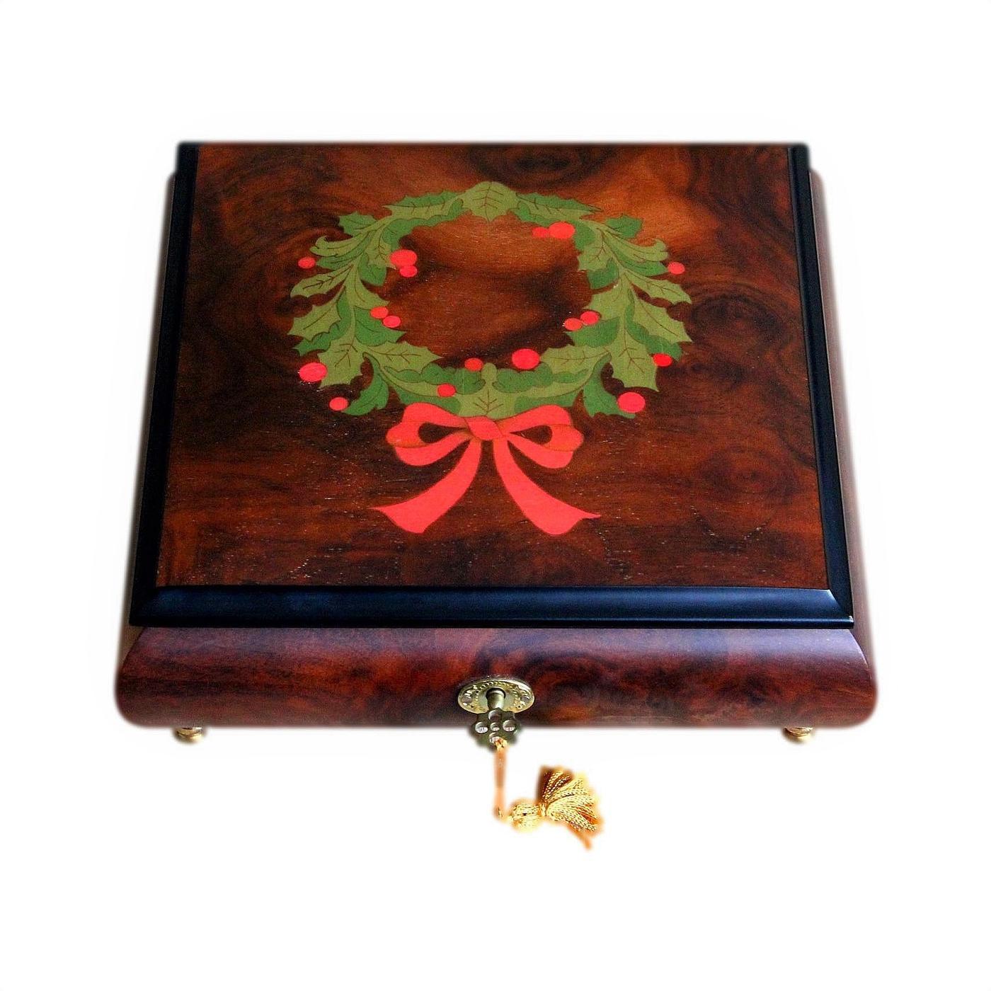 Stunning Inlaid Sorrento Vintage Musical Jewellery Box