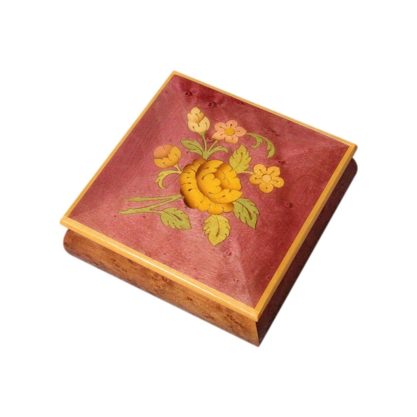Beautiful Sorrento Enamelled And Inlaid Vintage Jewellery Box