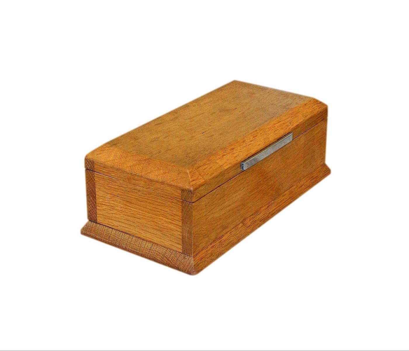 Beautifully Refurbished Solid Oak Art Deco Jewellery Box