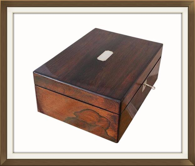 Large Antique Victorian Rosewood Jewellery Box