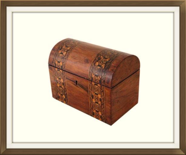 Beautiful Victorian Inlaid Walnut Jewellery Box