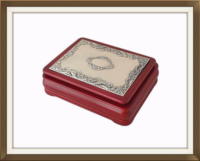Beautiful Jewellery Box With Hallmarked Silver Top