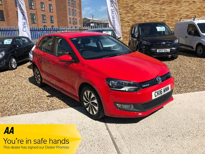 Volkswagen Polo 1.0 TSI BlueMotion Tech BlueMotion (s/s) 5dr £7,750</br> 2016   |   54,500 miles   |   Petrol   |  Manual