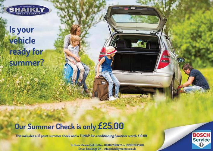 Is your vehicle ready for summer? Our Summer Check is only £25.00