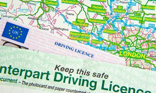 New driving license with Good Luck Driving School