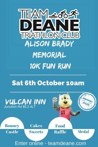 Alison Brady Memorial 10k Join us for this fun 10k run!