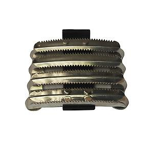 BITZ METAL CURRY COMB WITH PVC STRAP