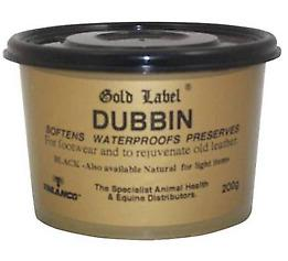 GOLD LABEL BLACK DUBBIN SOFTENS WATERPROOFS AND PRESERVES 200ML