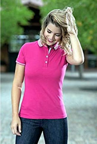 HKM Polo Shirt Active Pink unisex