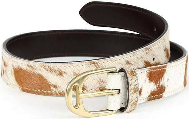 SHIRES AUBRION 35MM COW HAIR BELT 110MM AND 100MM
