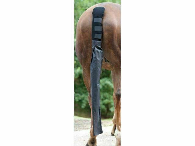 SHIRES NEOPRENE TAIL GUARD ONE SIZE WITH TAIL BAG - BLACK