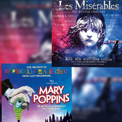 New West End Cast recordings of Mary Poppins and Les Miserables - The Staged Concert - News DVD release of Staged Concert will be released too
