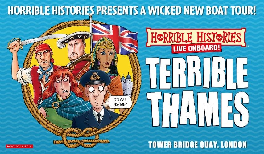 Horrible Histories Live Onboard! Terrible Thames - News Tremble in terror at the Tower!