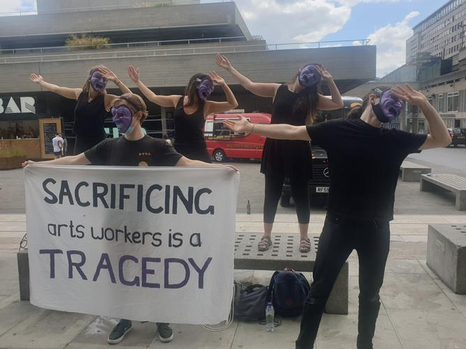 Arts workers protest 800 redundancies at NT and Southbank Centre - News Protests against mass redundancies continue