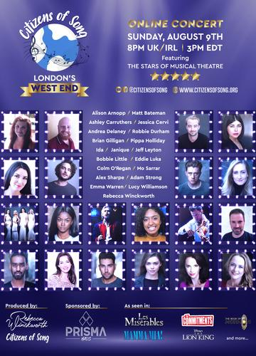 Citizens of Song -  Music Together From Afar - News An online concert from the stars of Musical Theatre