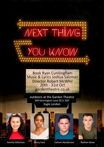 Next Thing You Know - Review - The Garden Theatre at The Eagle A musical about confronting adulthood in the city that never sleeps