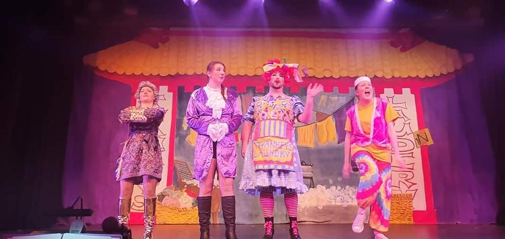 Aladdin - The Adult Pantomime - Review - Luton Library Theatre Oh no he didn't…oh yes he did!