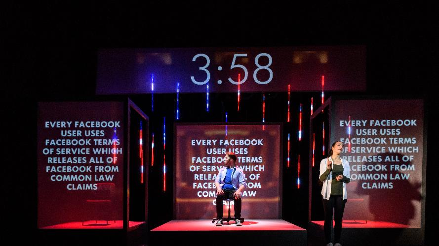 Public Domain - Review - Vaudeville Theatre A musical about and set in the world of the internet