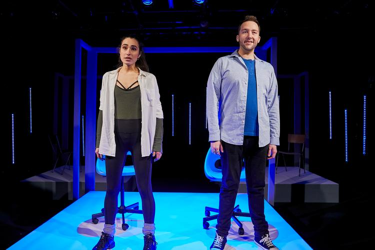 Public Domain - Review - Southwark Playhouse The show is streamed live from the stage of Southwark Playhouse