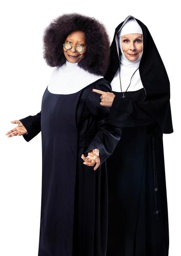 Whoopi Goldberg for the London run of Sister Act - News With Jennifer Saunders as Mother Superior