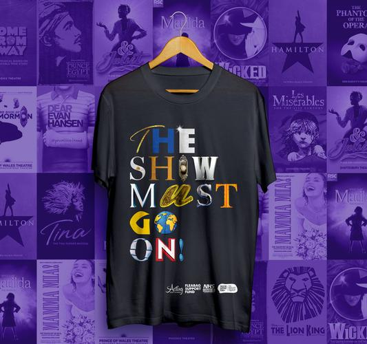 The Show Must go On Tshirts raise 125.000 - News Theatre Support Fund+ raises £125,000 for charities and counting.