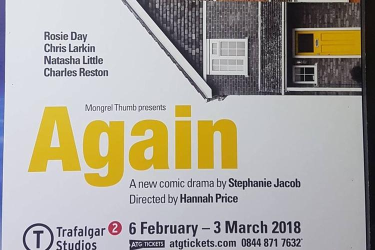 Again Theatre Review: Two Stars I usually enjoy family dramas but this one had a poor plot and I did not understand or get the premise of the production despite the efforts of the well assorted cast.