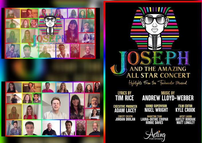 Joseph and the Amazing All Star Concert- Review The concert is  in aid of the charity Acting for Others