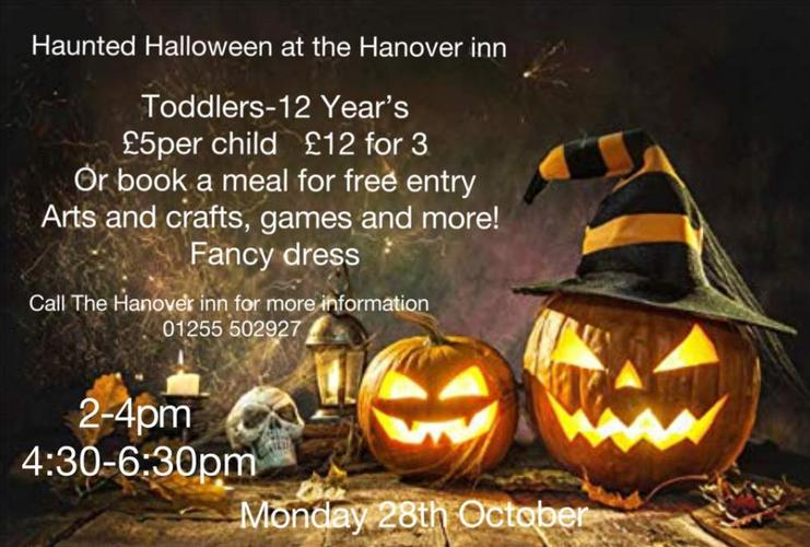 Childrens Halloween Party at the Hanover Inn - Monday 28 Oct Halloween at The Hanover 28th Oct