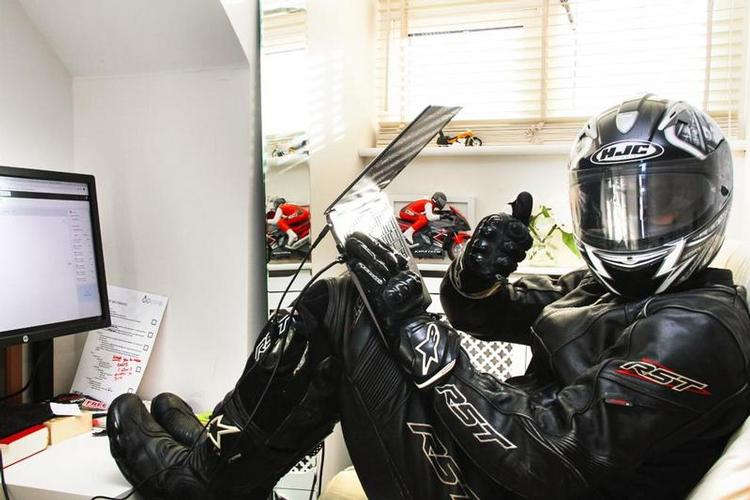 Biker Working from home: Day 05. Biker - A photo series taken during the lockdown of COVID-19.