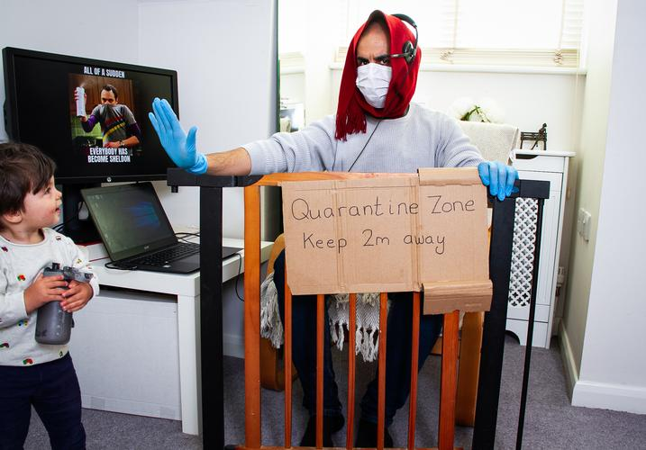 Quarantine Zone Working from home: Day 25. Quarantine Zone- A photo series taken during the lockdown of COVID-19.