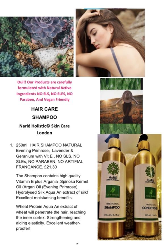 250ml  Natural Hair Shampoo