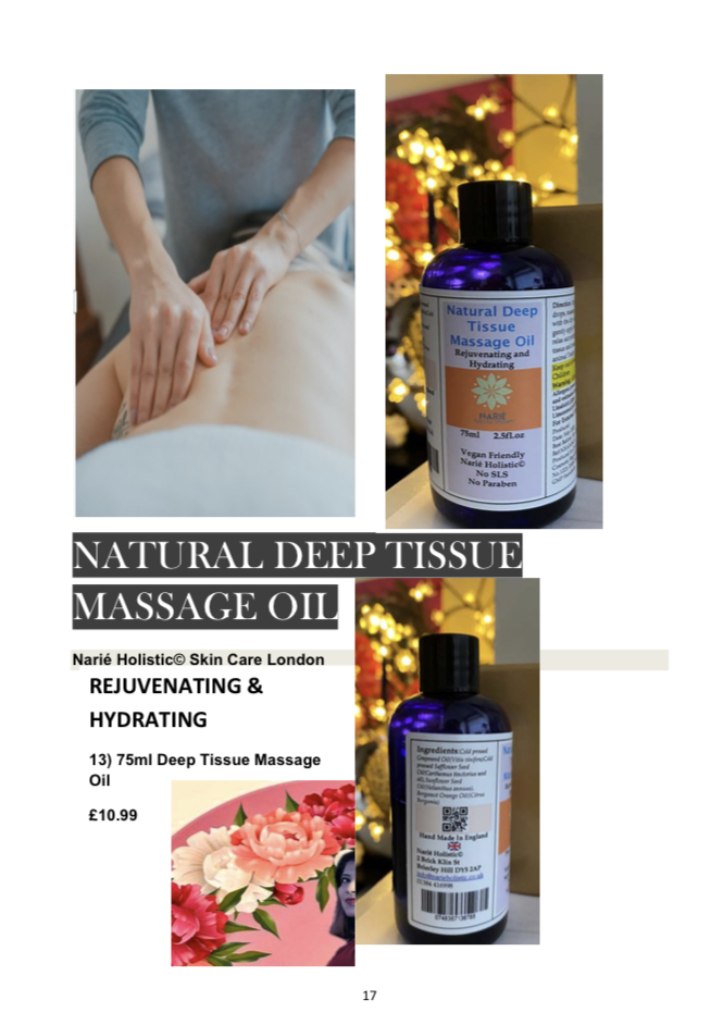75ml Deep Tissue Massage Oil