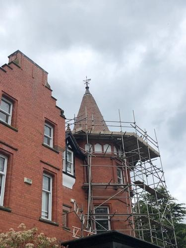Repairs to a Grade II listed building in North Wales. Repairs to a Grade II listed building.