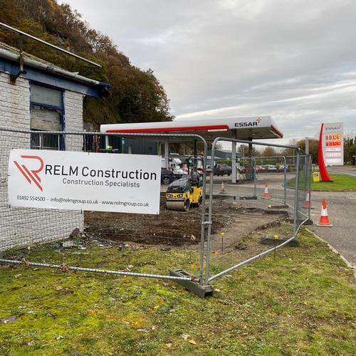 Progress pictures of one of our current projects for a service station in Gwynedd. Progress pictures of one of our current projects for a service station in Gwynedd.