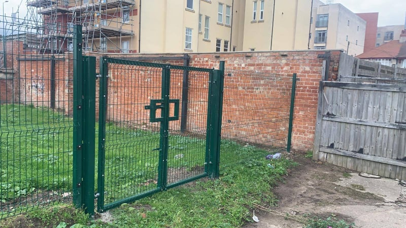 Installation of new fencing & gate on a site in Rhyl. Installation of new fencing & gate on a site in Rhyl.