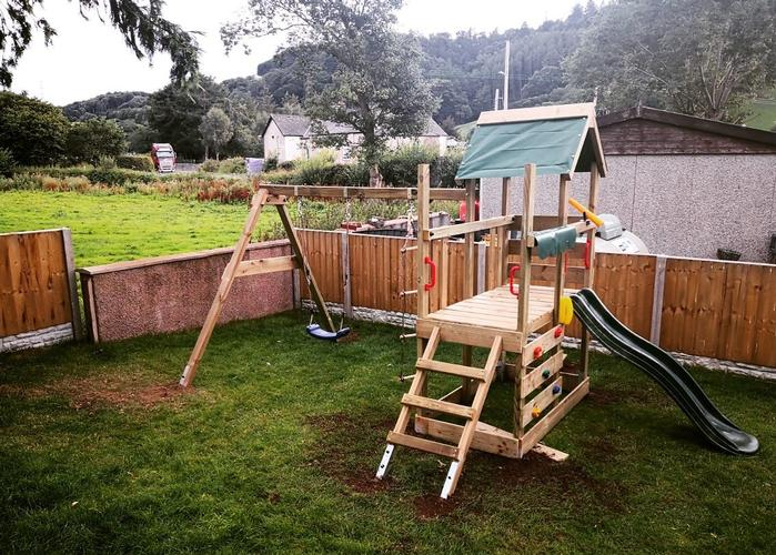 Garden Fencing & Play Area A recent job we completed erecting a fence and putting together a play area that we concreted into the ground.