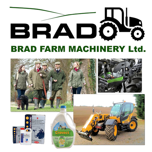 Brad Farm Machinery and Country Store supplying Farm Machinery, Sales, Servicing and Parts, Farm and Country clothing, footwear and work wear, Tools and Hardware, Pest Control, Auto and Engine Essentials, Fencing, Gates, Electric Fencing, Livestock Handling Equipment, Animal Health, Husbandry and Medicines for Livestock, Equine, Avian, Pet and Companion Animals to Farmers, Stockmen, Contractors and Smallholders throughout East Anglia.