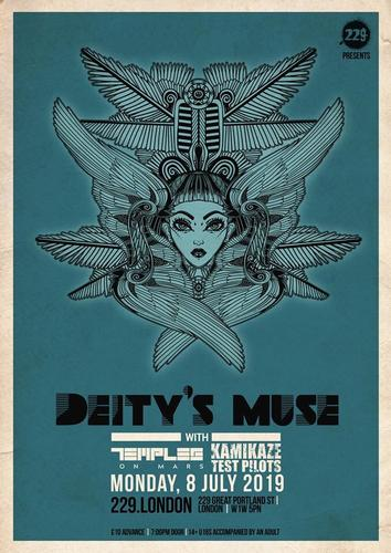 Supporting Deity's Muse at 229 the Venue, London, 8 July 2019 A Monday night gig in London