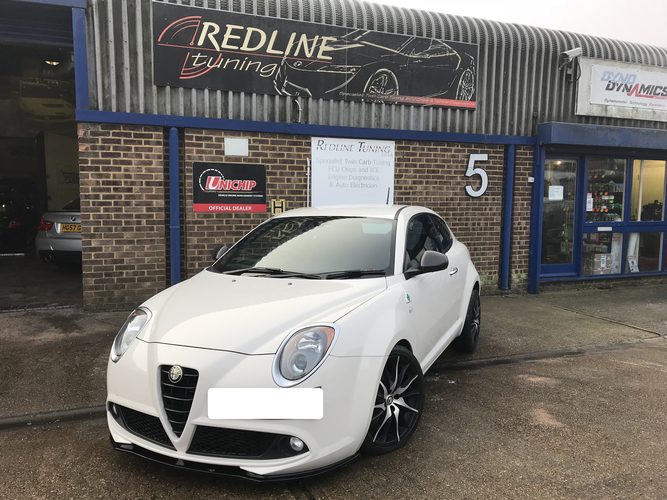 First Unichip plug and play tuning solution for the Alfa romeo Mito QV. Utilising 5 user selectable maps including an immobiliser map. Impressive performance results from this little car. 217bhp from just an induction kit, exhaust box delete and a Unichip kit.