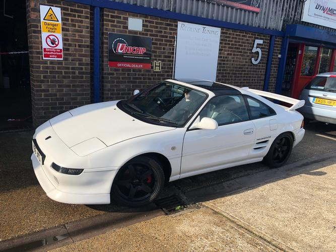 TOYOTA MR-2 GT T BAR TURBO OVER 300 BHP FROM THIS MID ENGINE REAR WHEEL DRIVE SPORTS CAR