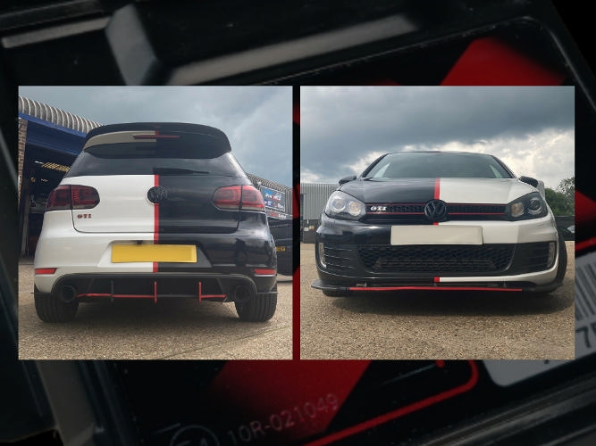 Modified MK6 Golf GTI... The Unichip X - The Tuning Glue that holds 359.5HP together.
