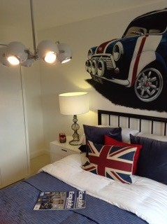 Car Kids Bedroom Mini themed Kids Bedroom by our interior designer in London