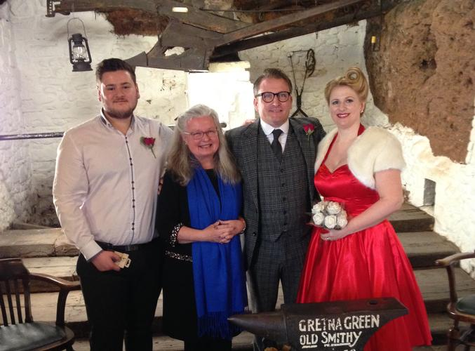 Romantic Wedding on Valentine's Day What a wonderful day for a wedding!  Valentine's Day 2016 was a date chosen by many romantic couples to celebrate their marriage at Gretna Green and indeed at many other locations in the area...