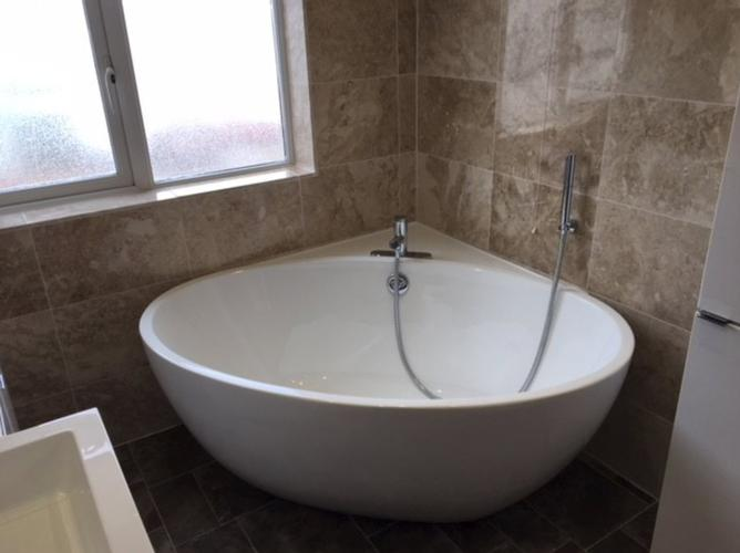 Lovely Large Corner Bath Large family bathroom and Downstairs Shower Room