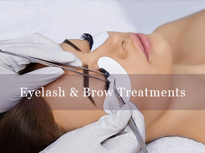 Eye Treatments We have a range of treatments for your eyes including False Strip and Weekend Eyelashes, Classic Hollywood eyelash extensions, Russian eyelash extensions, Hybrid eyelash extensions, EVL Eyelash Lifts and Tinting. A patch test is required 24 hours prior to all lash treatments.  We also offer eyebrow tinting together with a Brow wax or Brow thread.