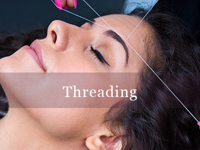 Threading Threading is a very effective way to remove hairs from your face and is perfect for those who have sensitive skin. It is a method using a thin cotton or polyester thread and is twisted.  It is then rolled over areas of unwanted hair, plucking the hair out of the hair follicle.