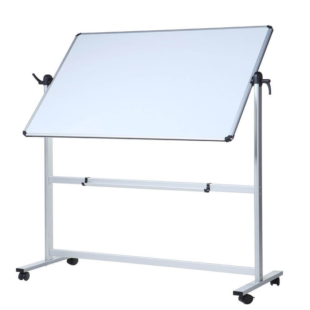 REVOLVING DOUBLE SIDED MAGNETIC DRYWIPE WHITEBOARD