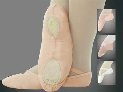 Canvas Split Sole Ballet Shoes up to Size 5