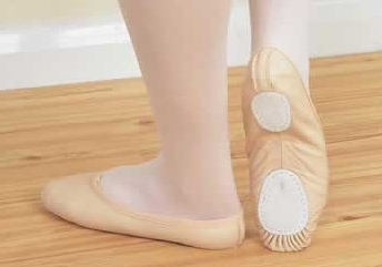 Split Sole Leather Ballet Shoes up to Size 5